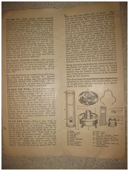 vulcan oil heater operating instructions
